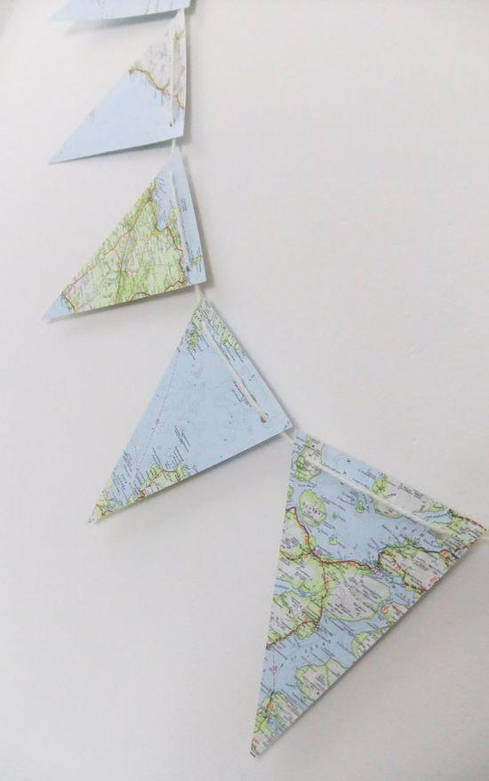 top!  vlaggenlijn van landkaarten