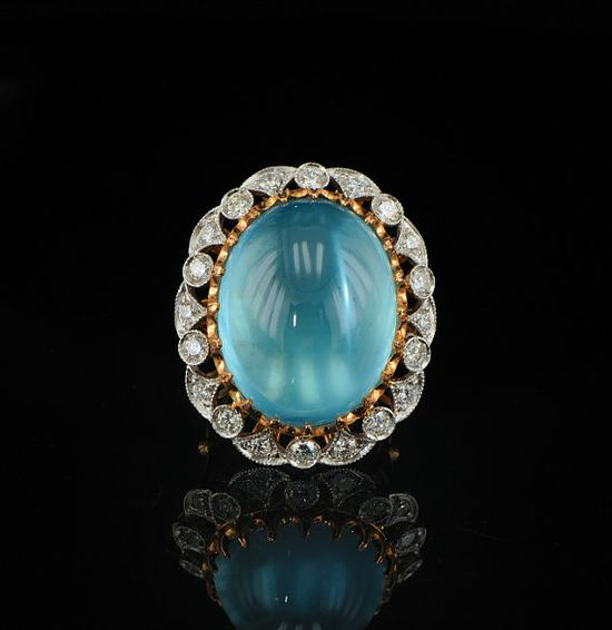 Magnificent 3500 Ct aquamarine and diamond retro by hawkantiques, £3650.00