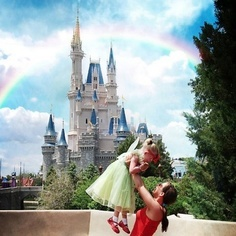 Want a pic of my little tinkerbell in front of Cinderella's Castle like this
