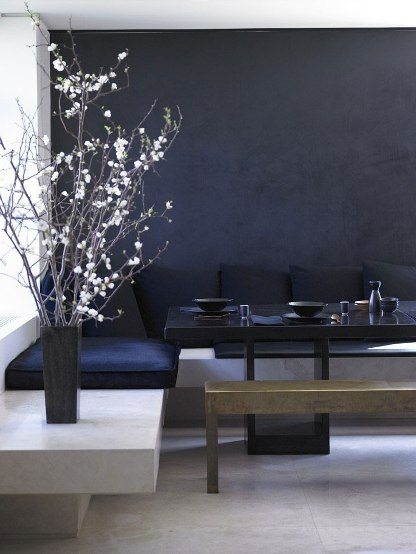 donna karan apartment + black walls