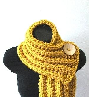 Button scarf.