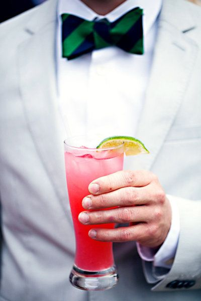 Signatured cocktails and bow ties...Photography by pizzutistudios.com  Read more - www.stylemepretty...