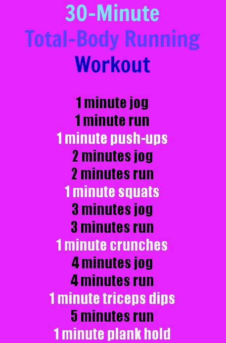 A 30-Minute, Total-Body Running Workout! Quick-and-Easy! :)