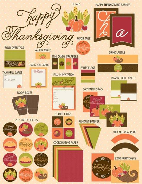 Thanksgiving PRINTABLE Party by Love The Day by Love The Day