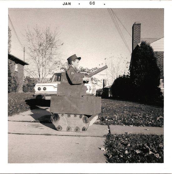 The walking tank. #vintage #halloween #costume #1960s