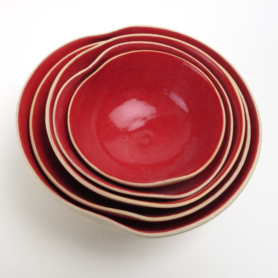 a set of 5 nesting heart bOwls by atelierOKER on Etsy, €53.00