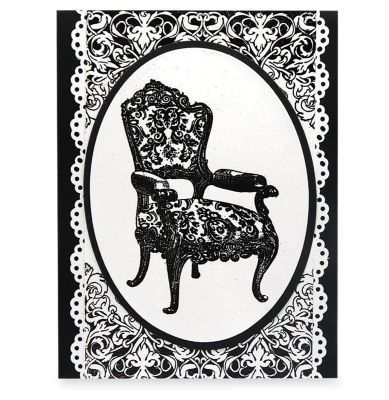 Simple Damask Chair #Card