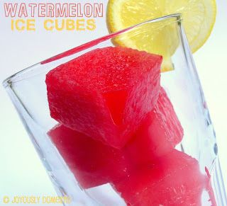 WATERMELON ICE CUBES!