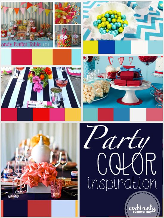 Party color inspiration. So many pretty color ideas. entirelyeventfuld...