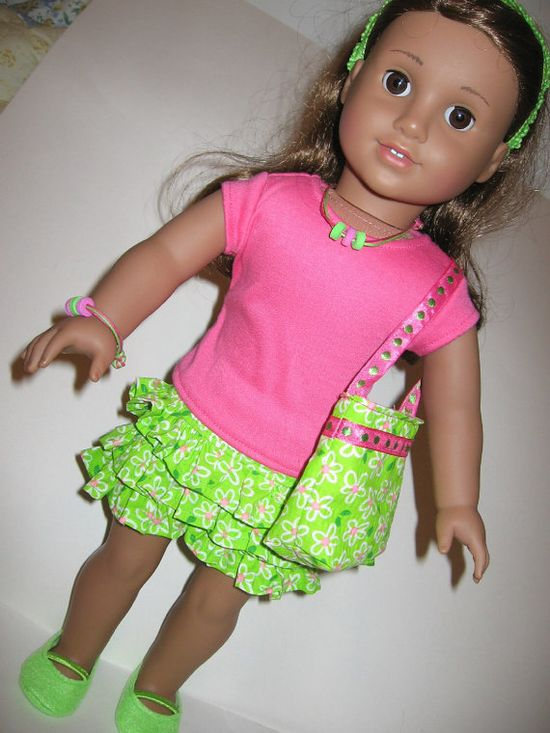 Complete outfit for 18 inch AMERICAN GIRL doll by girlydezines.