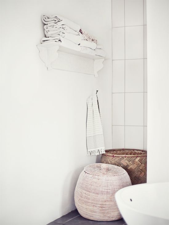 Bathroom storage #neutral #white