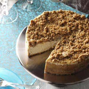 Apple Brandy Cheesecake Recipe from Taste of Home