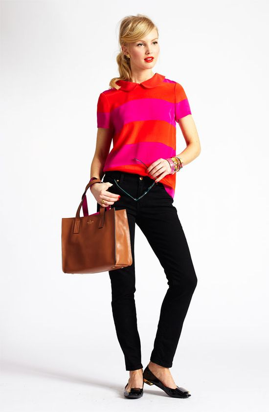 Family Gathering: kate spade new york silk top & skinny jeans #Nordstrom
