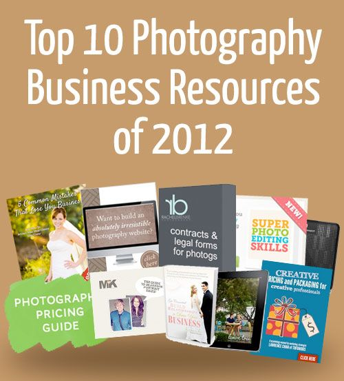 Top 10 Photography Business Resources of 2012 (via The Modern Tog)