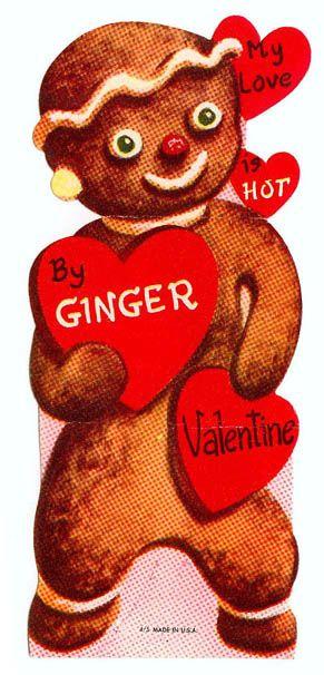 Vintage Valentine: Gingerbread Man