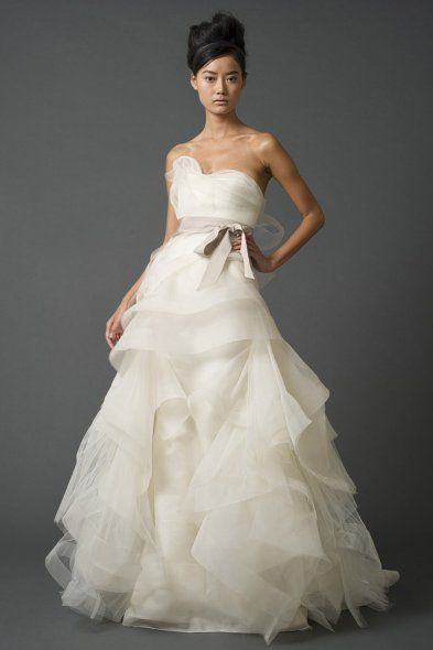 If I could go back in time, I would wear this wedding dress by Vera Wang