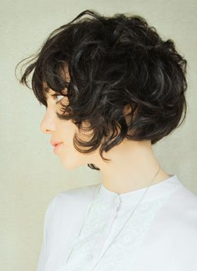 short curly bob