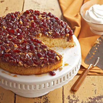 Berry-Walnut Upside Down Cake - Better Homes & Gardens