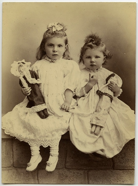 Girls with dolls ,2 little beautys