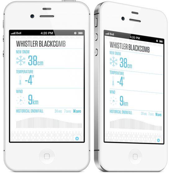 Snow Report App #ui #iphone #design