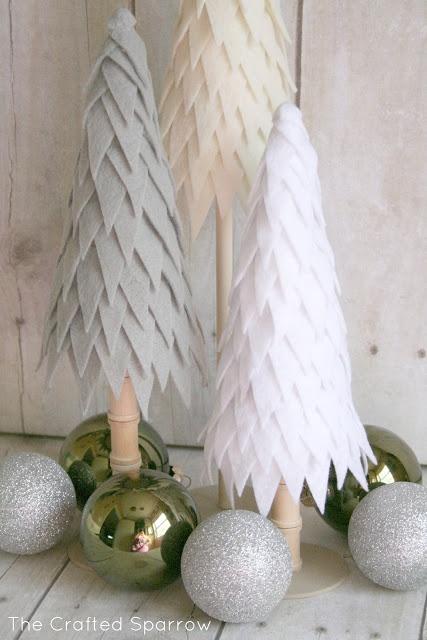 Felt Christmas trees-