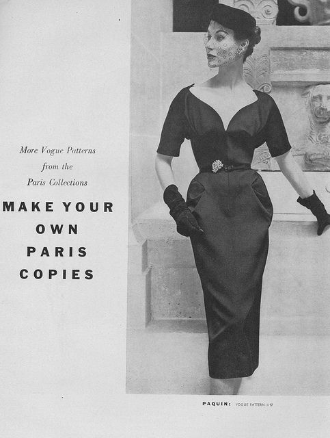 Make your own Paris copies (yes, please!!!). #vintage #fashion #1950s #sewing