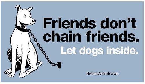 Friends don't chain friends.