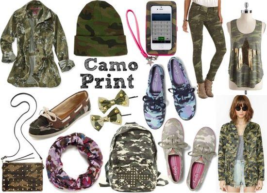 Five Fall 2013 Fashion Trends  {Camo Print}