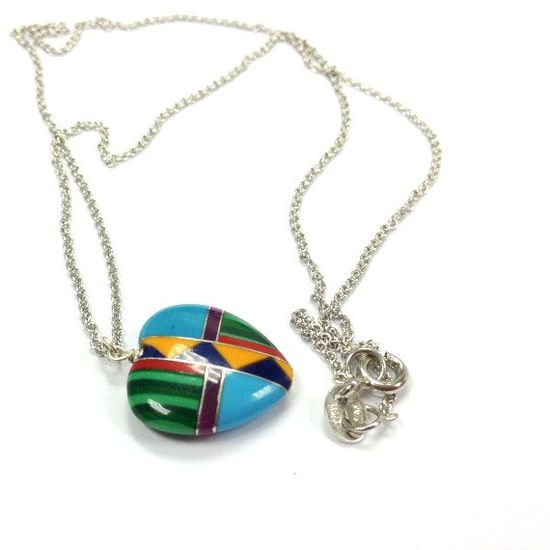 Heart Necklace Southwestern Jewelry Sterling by jewelrybycarmal, $26.00