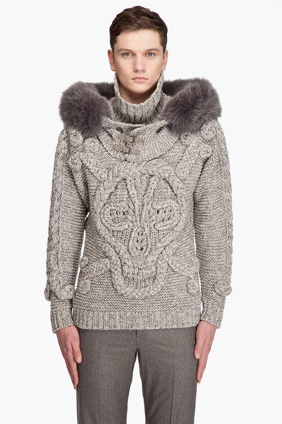 Alexander MCQueen // Hooded Skull Sweater