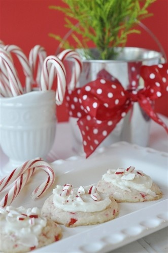 Peppermint cookies!  Yummy!