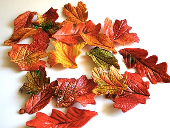 Edible Sugar Fall Leaves 2 dozen Autumn by andiespecialtysweets, $60.00
