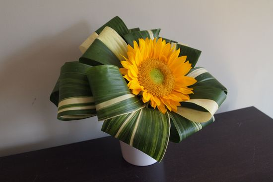 Look at this creative flower arrangement!
