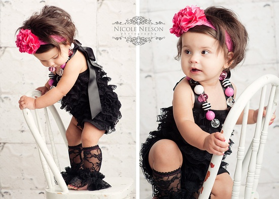 Black Lace romper...I love it...she is just too much!