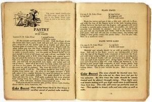 Vintage Cookbook pages