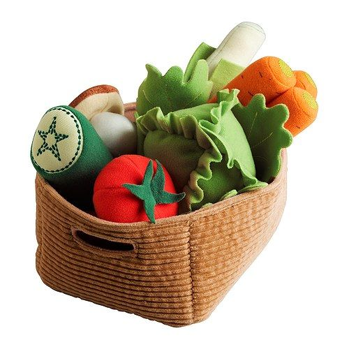 DUKTIG 14 piece toy vegetable set, IKEA: Worthy of Farmers' Market, $7.99.