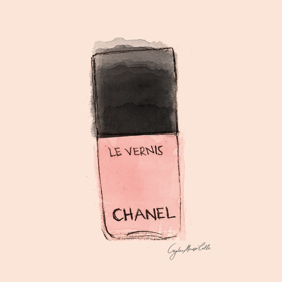 Chanel Nail Lacquer, fashion illustration