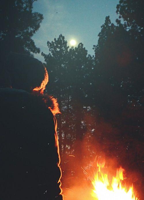 Campfire smell.