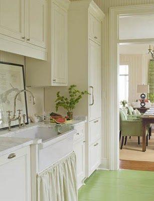 paint the kitchen floor...