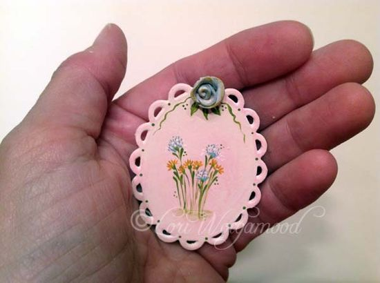 3d Rose Painting for Miniature Doll House Blue Shabby Chic -  Vintage Nest Designs, Creative Handmade and Hand Painted Designs