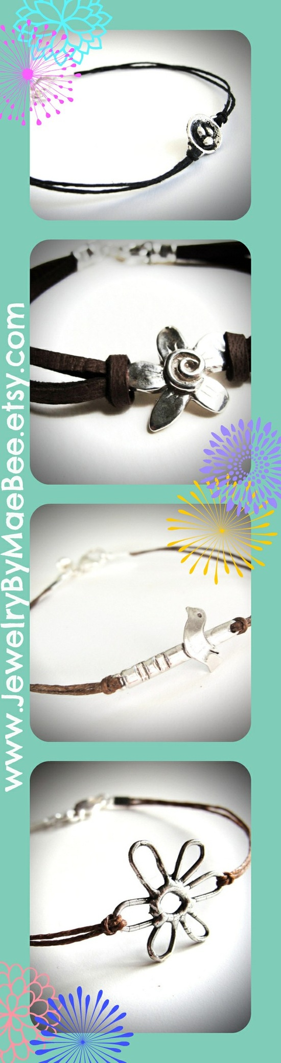 Sterling Spring bracelets from JewelryByMaeBee on Etsy!