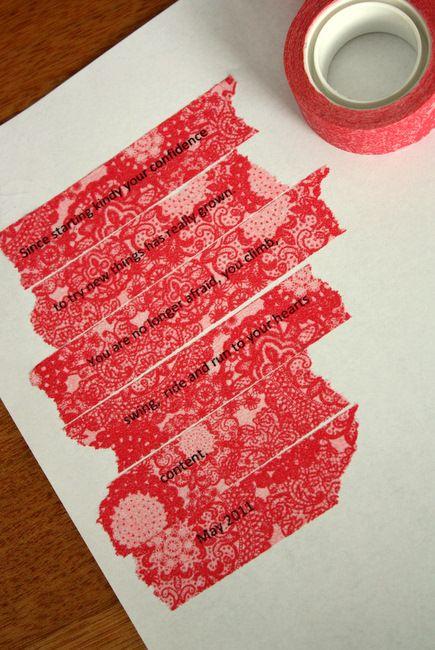 printing on washi tape