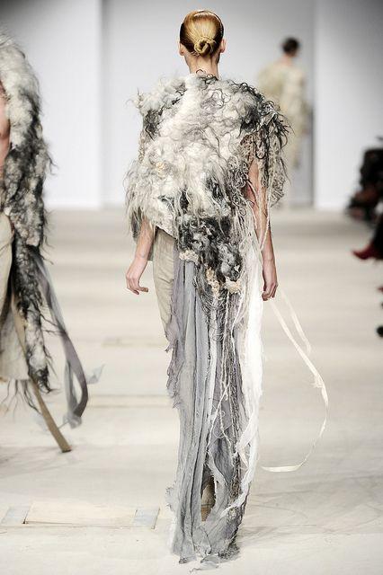 felt and fashion.  Vilte felt and Josephus Thimister, AW 11