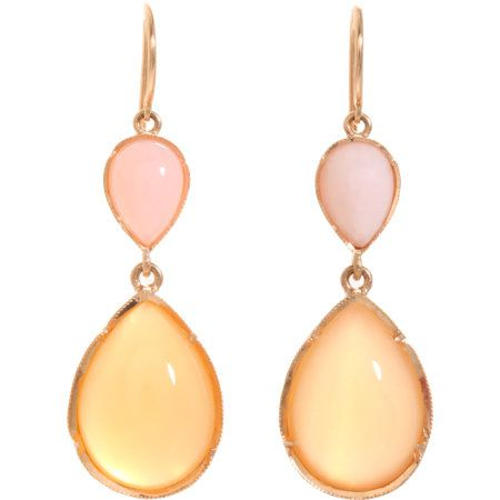 Irene Neuwirth Pink Opal & Peach Moonstone Earrings at Barneys.com