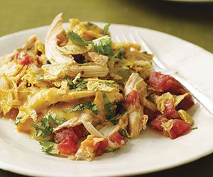 Use your leftover Thanksgiving turkey in this quick and easy Mexican recipe. Crushed tortilla chips thicken the zesty turkey and salsa mixture for a tasty skillet meal.
