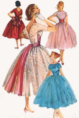 1950s Ball Gown, Prom Dress