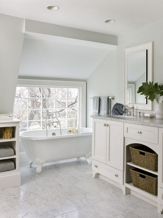 Bathroom, Remarkable Large Bathrooms Inspiring Creativity: Truly Gorgeous White Bathroom Designs