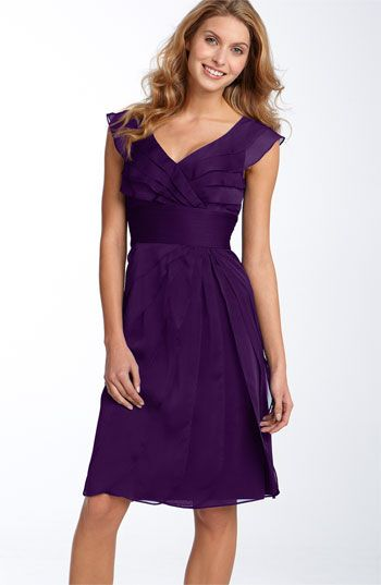I love this purple color for bridesmaids