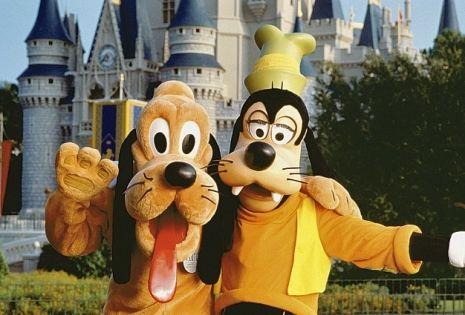 See classic Disney characters like Goofy and Pluto at Walt Disney World Resort