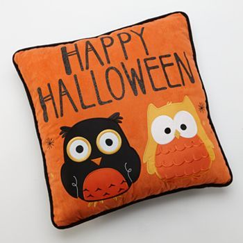 Owl Halloween Decorative Pillow